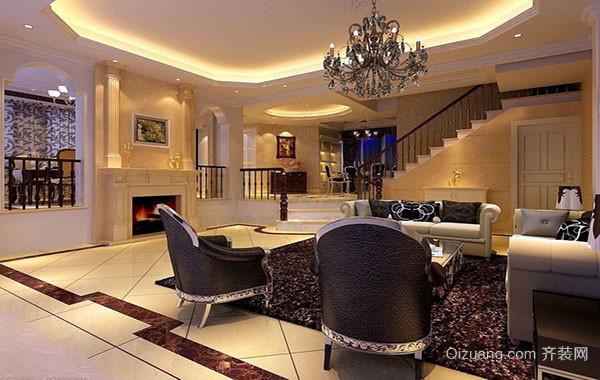 2016年古典欧式风格精美客厅吊顶装修效果图