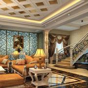 欧式客厅精致吊顶设计