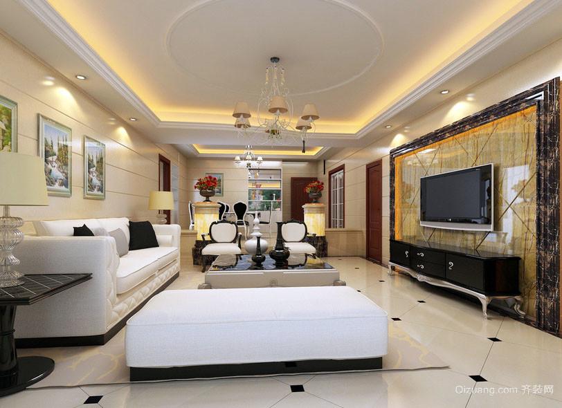 100平米现代简约时尚客厅装修效果图
