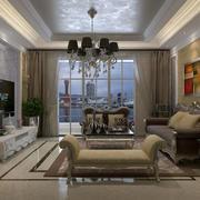 客厅精致唯美吊灯设计