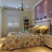现代田园风格自然卧室装修效果图