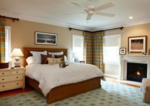 110平米现代美式风格精致卧室装修效果图