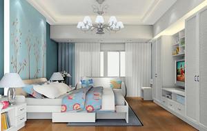 田园风格自然舒适小卧室装修效果图