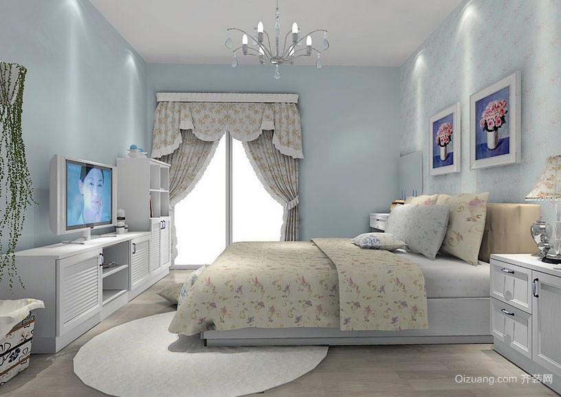 都市自然清新风格小卧室装修效果图