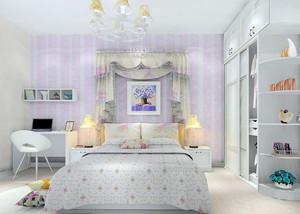都市清新女生卧室装修效果图