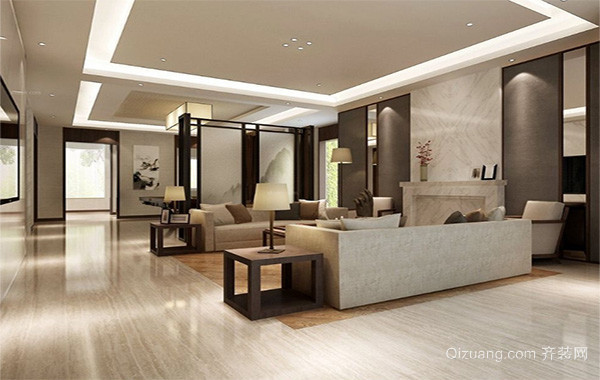 大户型现代都市客厅室内设计装修效果图
