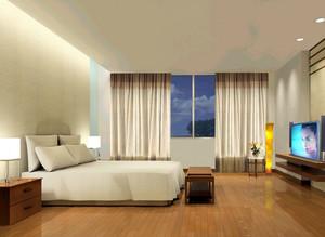 小户型现代家庭卧室背景墙装修效果图实例