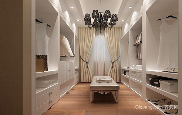 现代简约别墅型室内衣帽间设计装修效果图