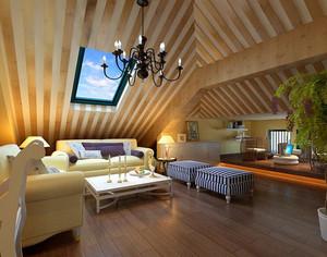 现代简约风格大户型阁楼室内设计装修效果图