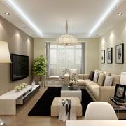 欧式精致的别墅型客厅设计装修效果图