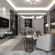 欧式风格精致的大户型客厅装修效果图