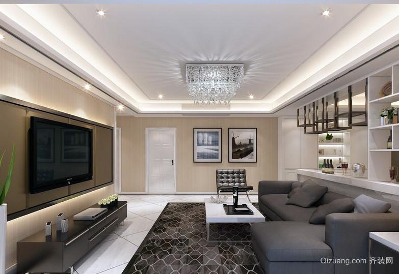 三居室欧式风格客厅室内装修效果图