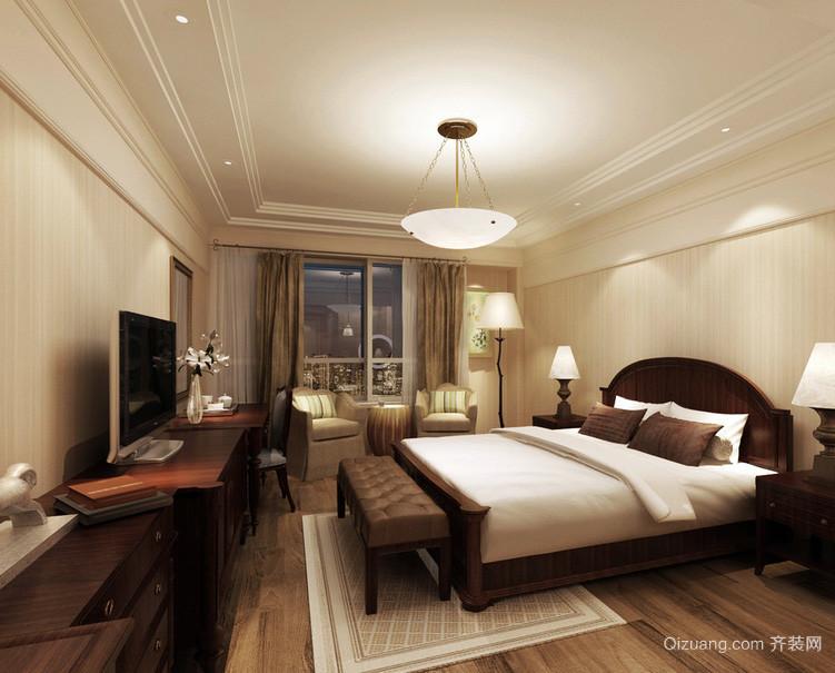 90平米精致的现代卧室背景墙装修效果图