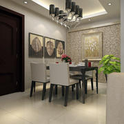 小户型时尚欧式餐厅背景墙装修效果图