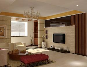 现代大户型欧式客厅电视背景墙装修效果图