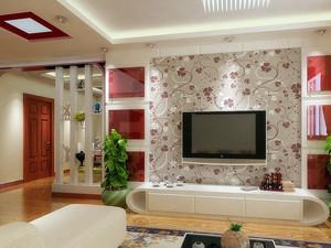 小户型欧式风格客厅电视背景墙装修效果图
