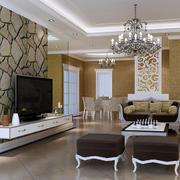 欧式风格精致的大户型电视背景墙装修效果图