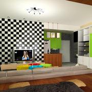 110平米欧式客厅背景墙装修效果图鉴赏