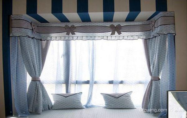 地中海风格自然舒适飘窗装修效果图