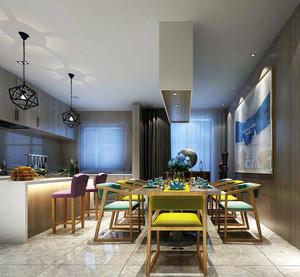 后现代风格别墅厨房吧台装修效果图