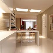 现代简约厨房吧台设计