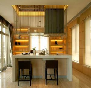 现代简约风格精致吧台酒柜装修效果图
