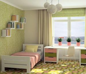 欧式大户型儿童房卧室背景墙装修效果图