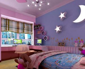 别墅型儿童房背景墙装修效果图鉴赏