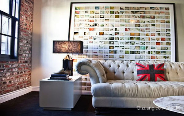现代时尚创意照片墙装修效果图赏析