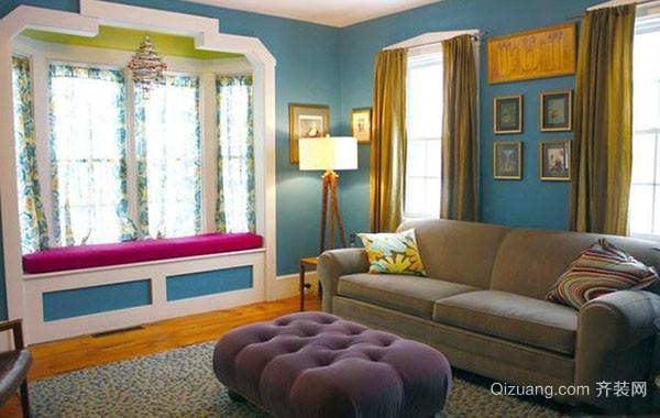 2016年现代简约欧式风格客厅飘窗装修效果图