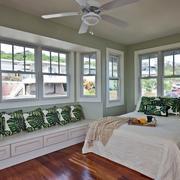 北欧风格自然轻快卧室飘窗装修效果图