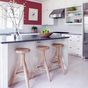 现代风格简约时尚创意厨房吧台装修效果图