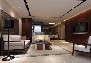 90平米大户型欧式客厅室内吊顶设计装修效果图