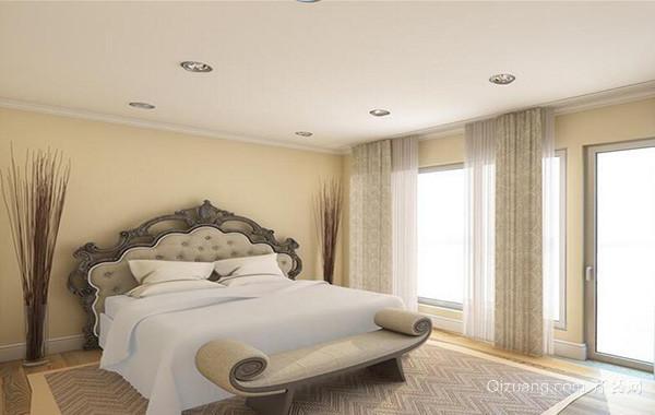 欧式风格别墅型卧室背景墙装修效果图鉴赏