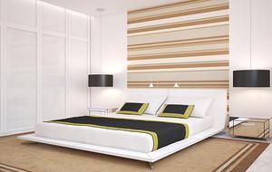 120平米欧式风格卧室背景墙设计装修效果图