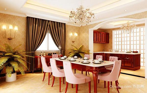 110平米别墅欧式餐厅背景墙装修效果图鉴赏