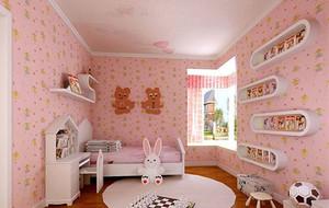 粉色主题梦幻时尚儿童房装修效果图赏析