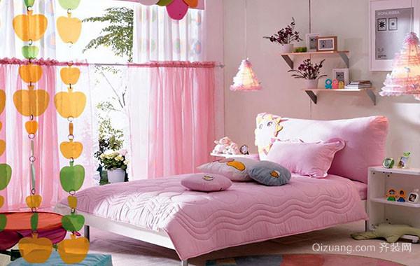 10平米时尚简约粉色儿童房装修效果图