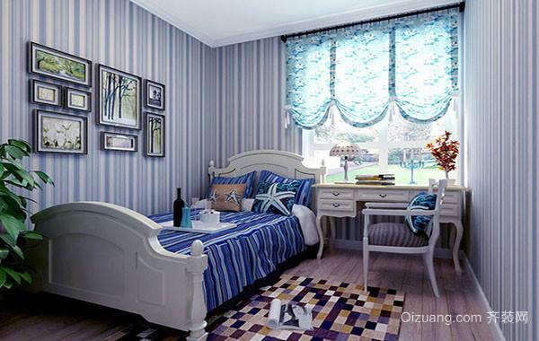 地中海风格蓝色主题儿童房装修效果图