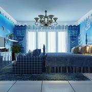 蓝色海洋主题儿童房
