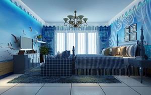 蓝色主题自然浪漫儿童房装修效果图