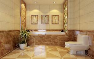 2016别墅欧式卫生间背景墙设计装修效果图