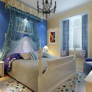 简约时尚蓝色主题儿童房
