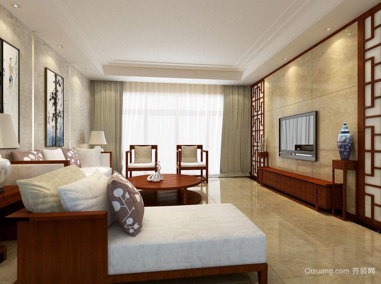现代中式风格精致卧室装修效果图