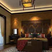 现代中式风格混搭时尚卧室装修效果图