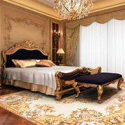 欧式时尚典雅卧室窗帘设计