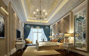 120平米时尚欧式风格典雅卧室装修效果图
