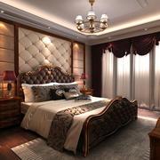 欧式精致卧室背景墙效果图