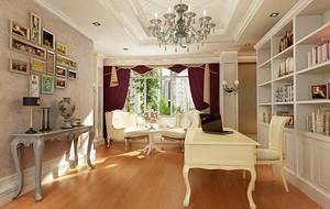 欧式风格别墅型书房室内设计装修效果图