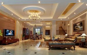 欧式风格别墅室内设计装修效果图鉴赏